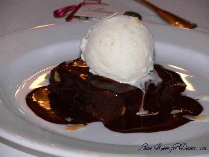 Chocolate Macadamia Brownie with Coconut Ice-Cream