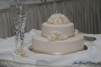 Ground Hazelnut and White Chocolate Wedding Cake