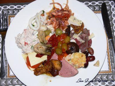 Italian Buffet - Nick's first plate of food