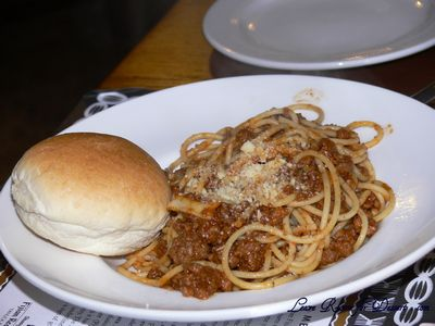 Italian Buffer - My first plate of food.... a bit of a difference from Nick's first plate