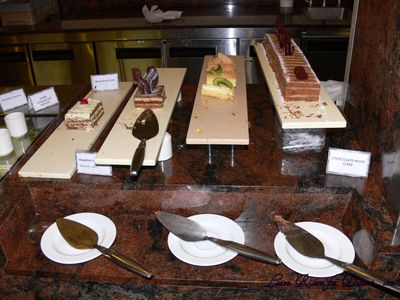 Array of cakes for dessert