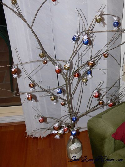 Nick's Lindt Chocolate Tree - all ready for harvest