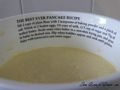 It's a pancake mixing bowl – with a recipe for The Best-Ever Pancakes!