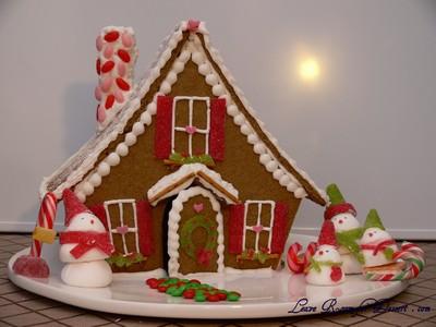 Gingerbread House Daring Bakers Challenge December 2009 Leave