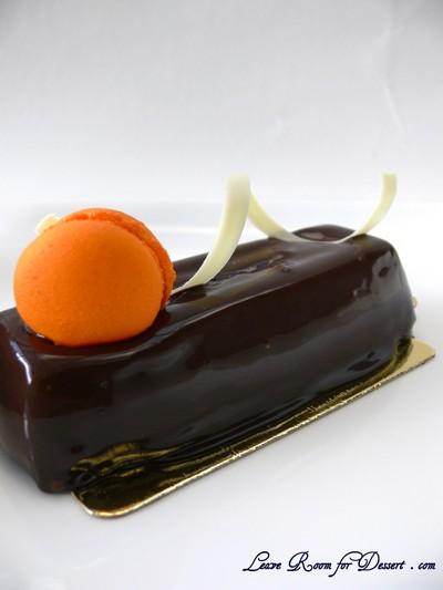 Chocolate Petit Gateaux (chocolate mousse, madaring mousseline cream, chocolate kalamansi cremeux, pistachio dacquoise)