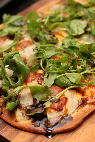 Balsamic Onion, Pear and Walnut Pizza