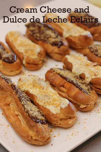 Cream Cheese Dulce de Leche Eclairs