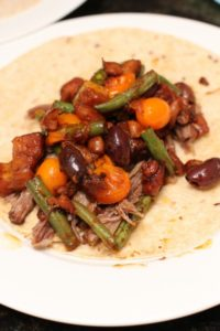 Five Hour Roasted Lamb with Beans and Olives