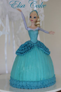 Elsa Cake Buttercream tutorial