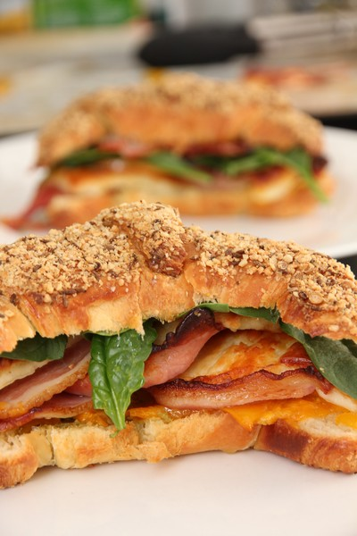 Dukkah Croissants Bacon Pumpkin Halloumi