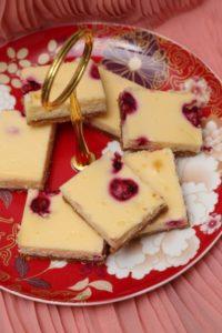 White Chocolate and Raspberry Cheesecake Slice